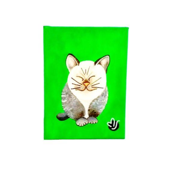 Cuadro MJArtBCN Catsmiren verde
