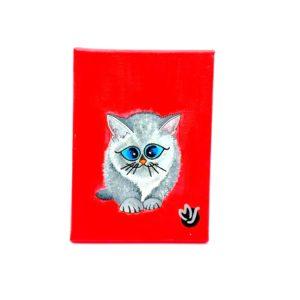 Cuadro MJArtBCN Catsmiren rojo
