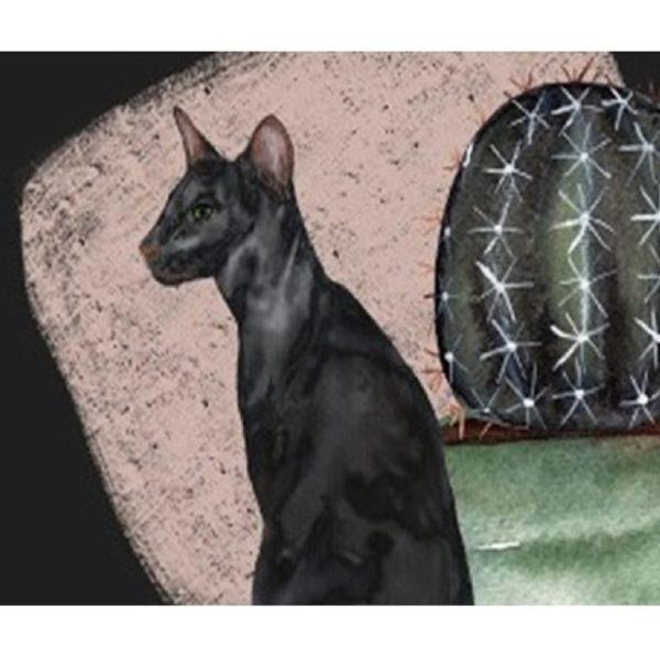 Alfombra antideslizante con ilustración de gato Catus