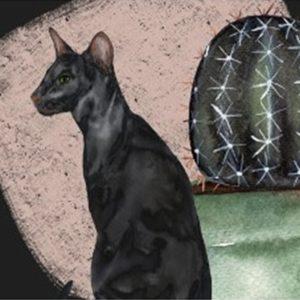 Alfombrilla interior antideslizante cat print ArtiGats Catus