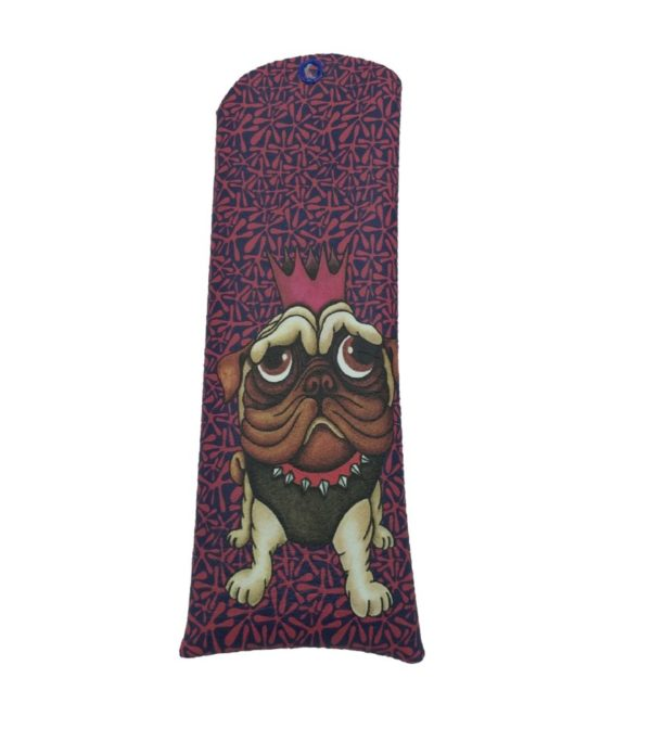 Funda de gafas de polipiel con ilustración de perro Carlina 1